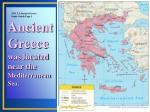 ancient greece was located near the mediterranean sea