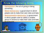 know the following terms