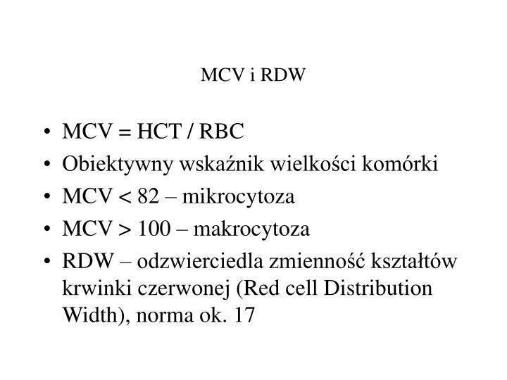 MCV i RDW