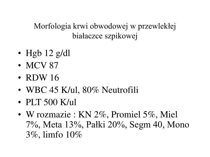 Morfologia krwi obwodowej w przewlekłej białaczce szpikowej