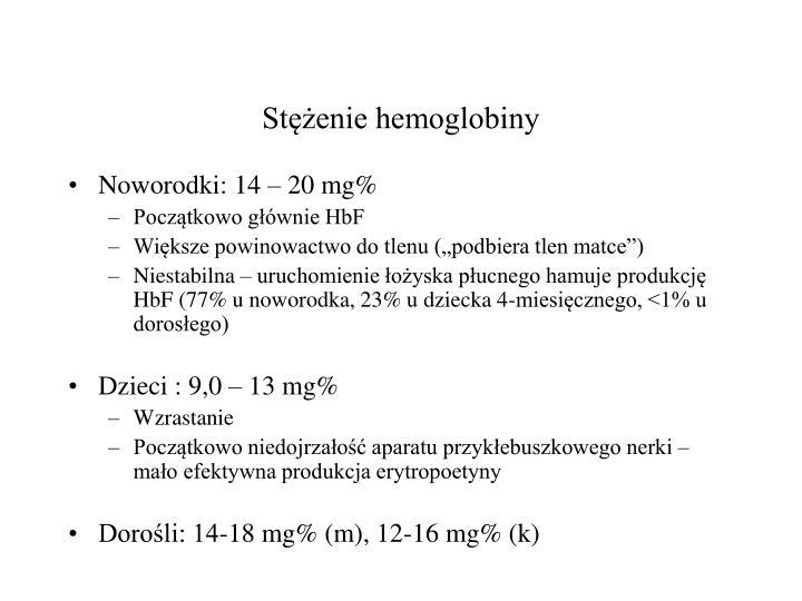 Stężenie hemoglobiny