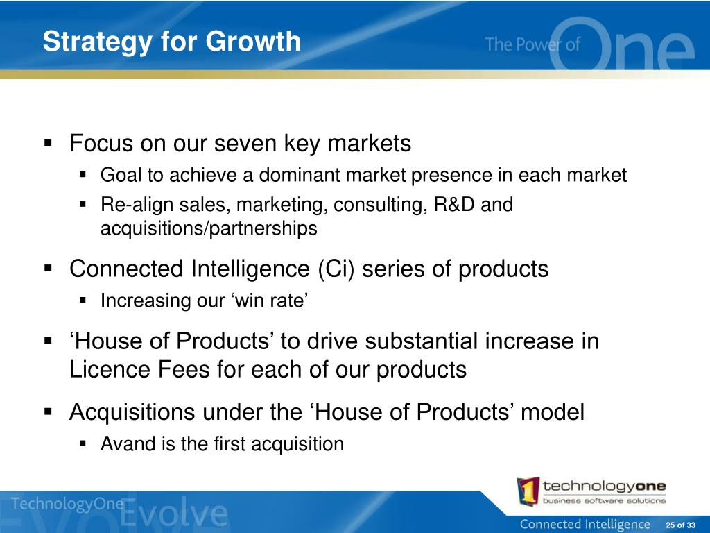 Strategy for Growth