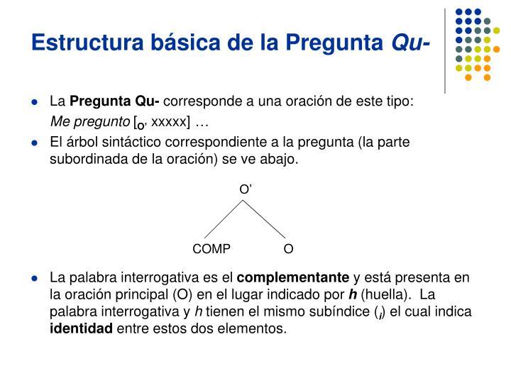 Estructura básica de la Pregunta