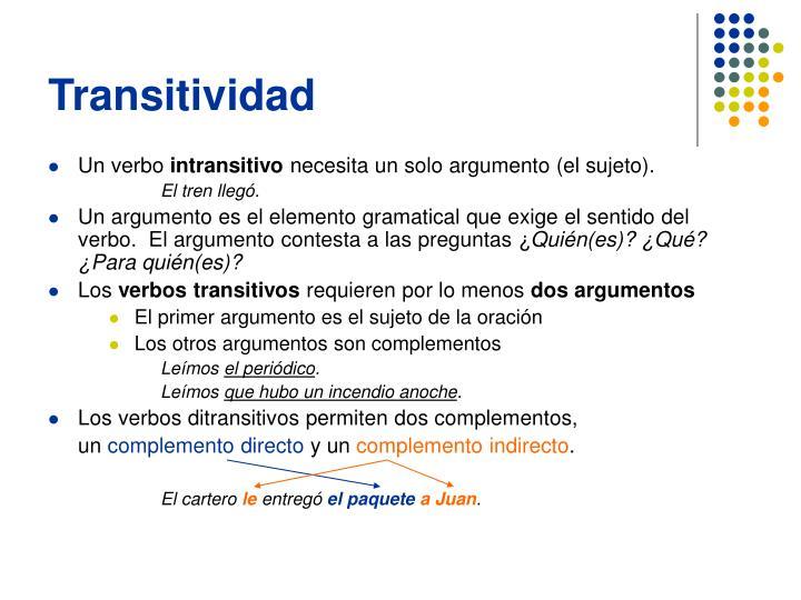 Transitividad