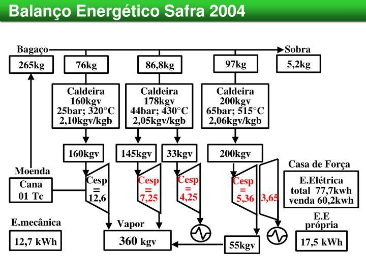 Balanço Energético Safra 2004