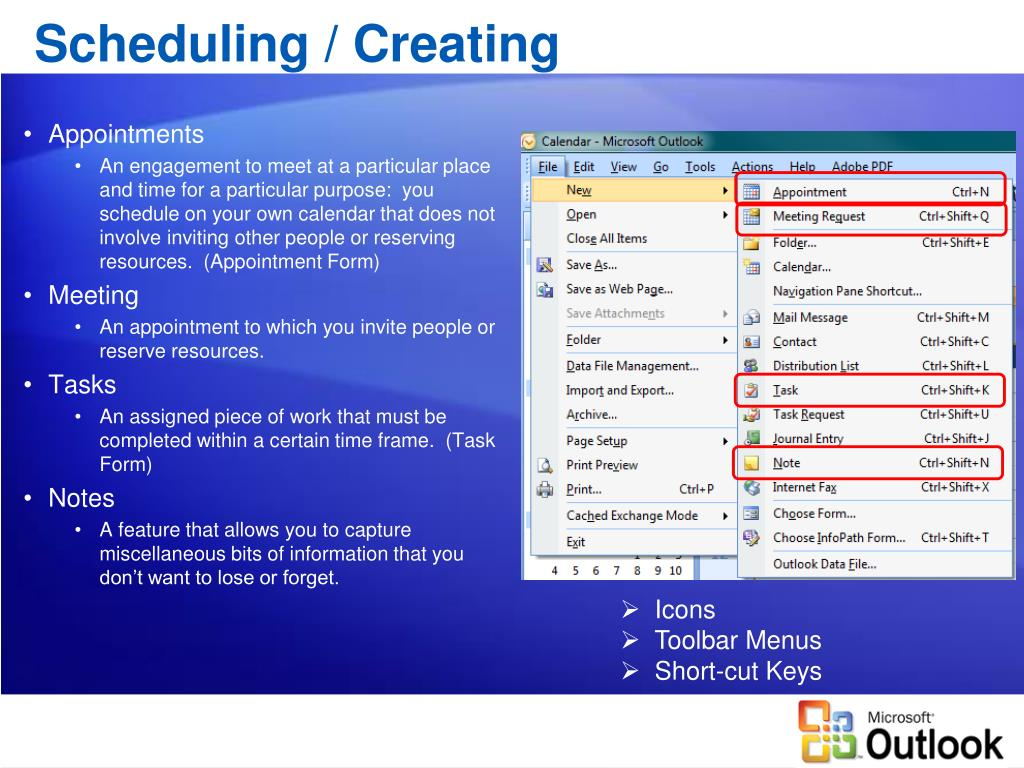 Scheduling / Creating