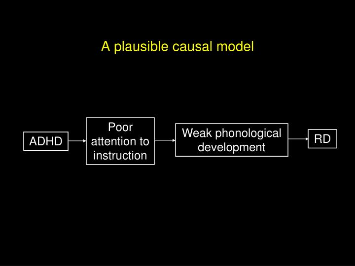A plausible causal model