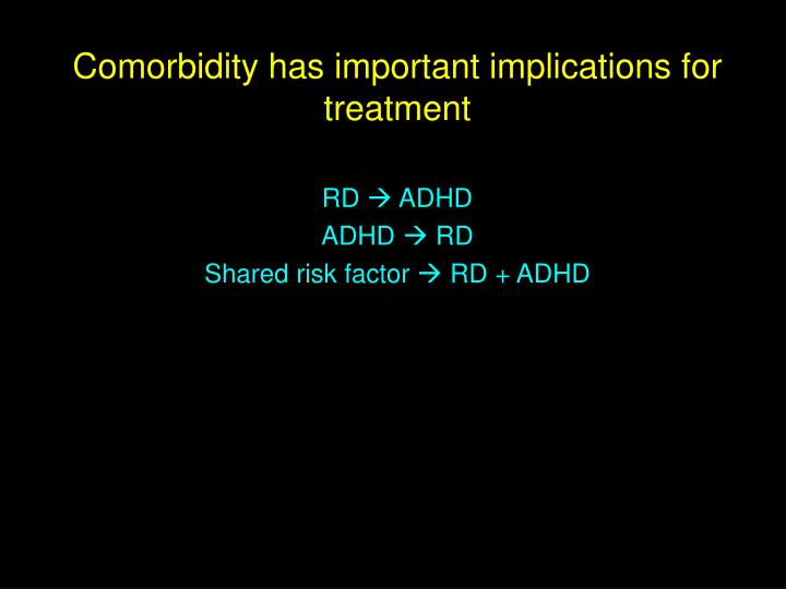 Comorbidity has important implications for treatment