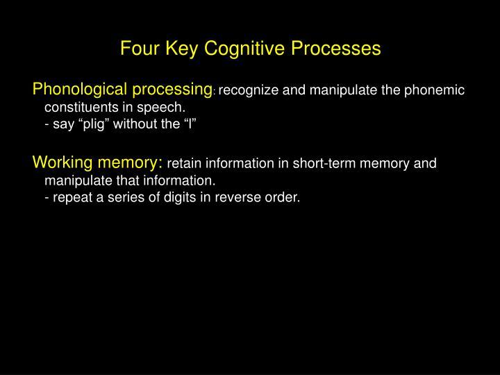 Four Key Cognitive Processes
