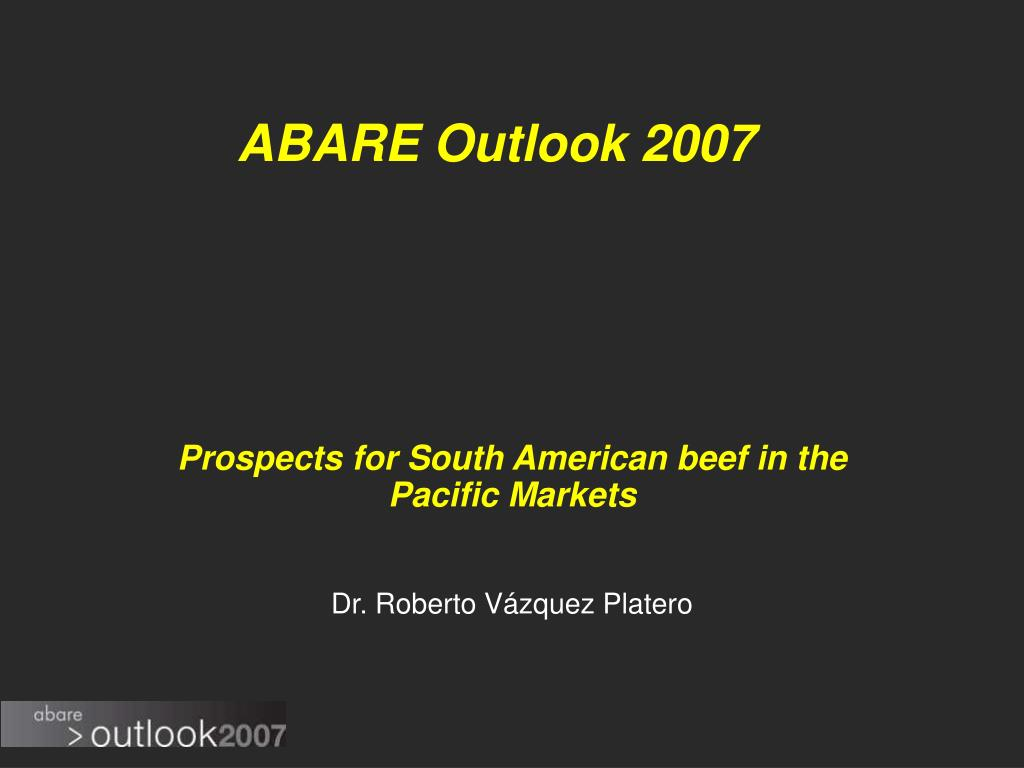 ABARE Outlook 2007