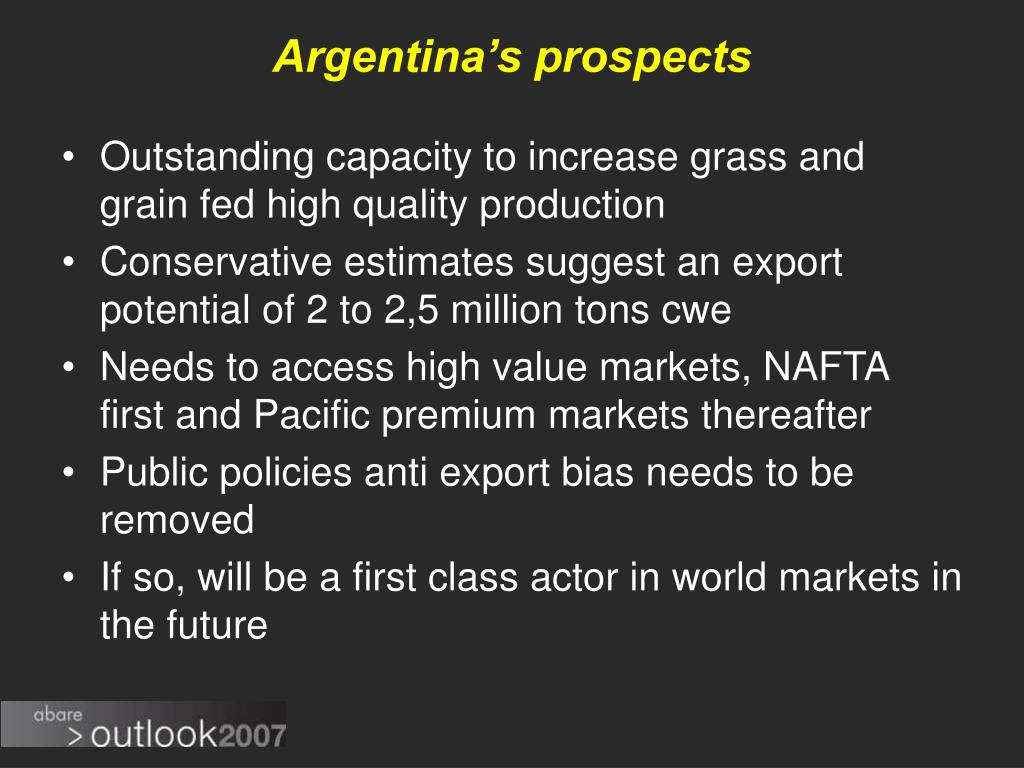 Argentina's prospects
