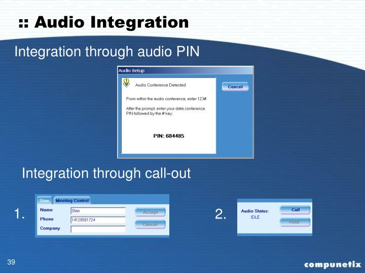:: Audio Integration
