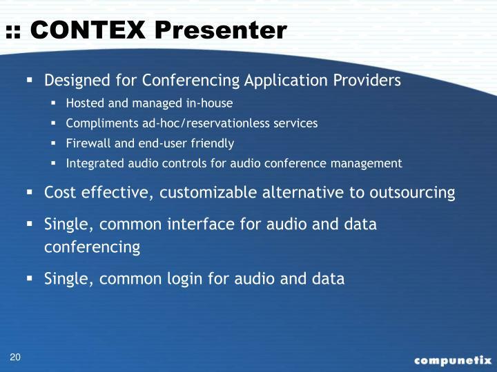 :: CONTEX Presenter