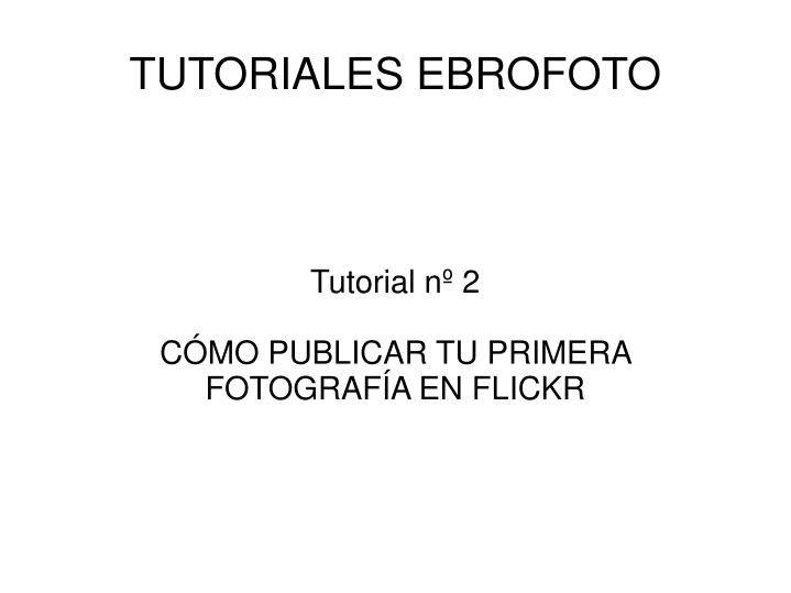 Tutorial nº 2