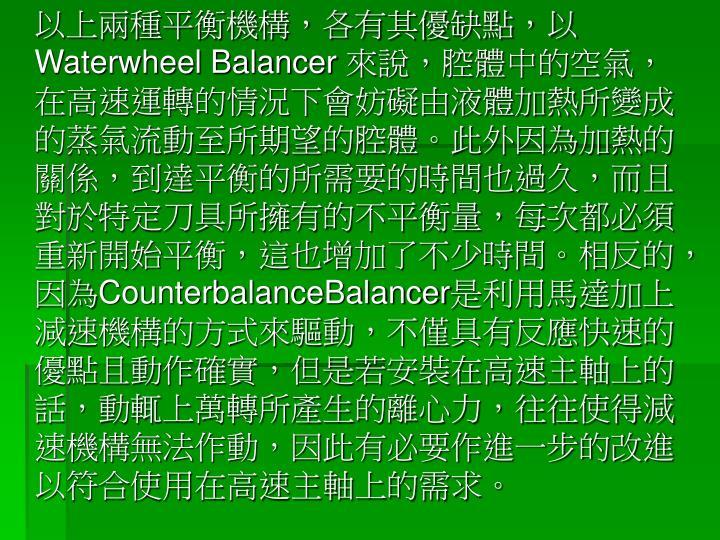 以上兩種平衡機構,各有其優缺點,以