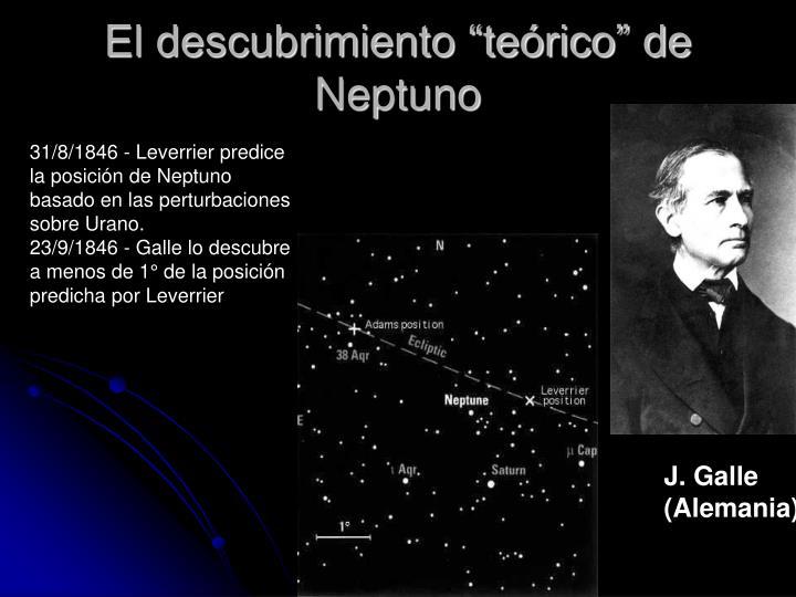 """El descubrimiento """"teórico"""" de Neptuno"""