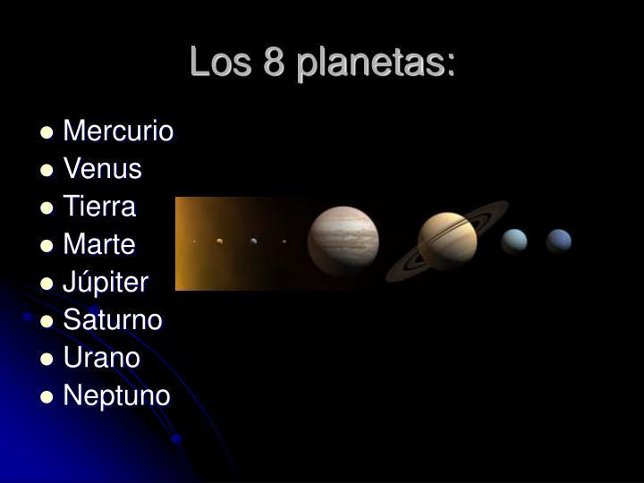Los 8 planetas: