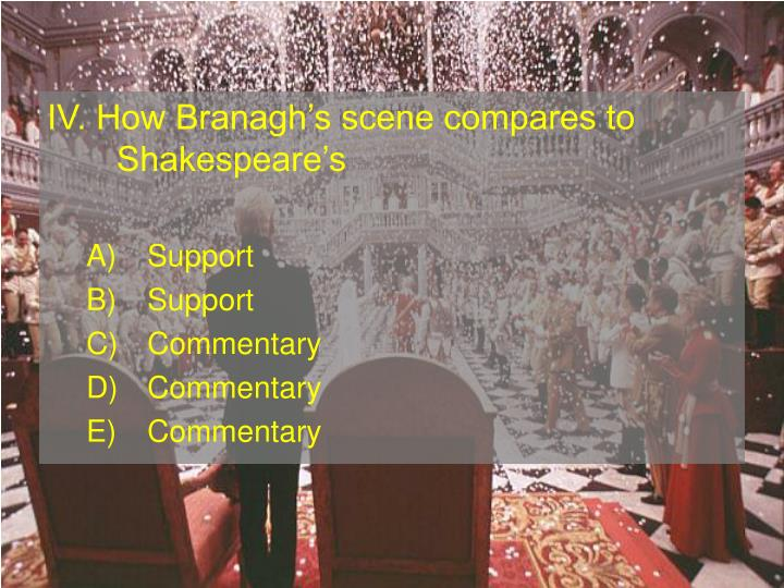 IV. How Branaghs scene compares to Shakespeares
