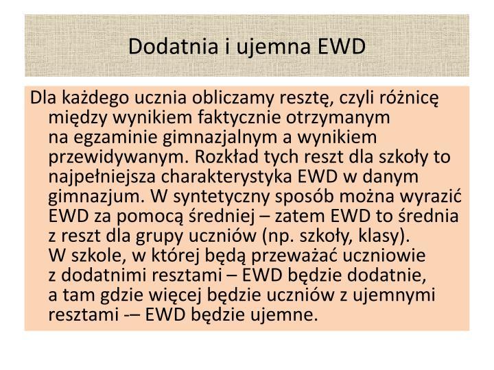 Dodatnia i ujemna EWD