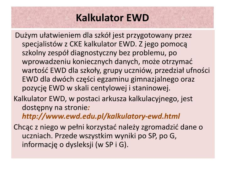 Kalkulator EWD