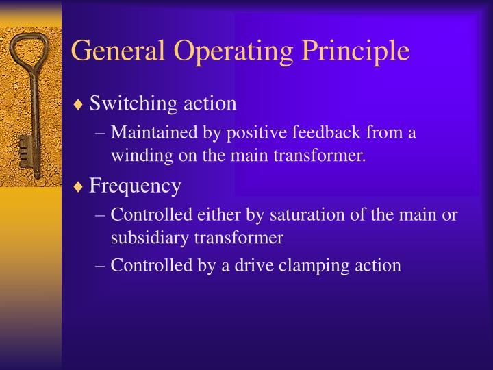 General Operating Principle