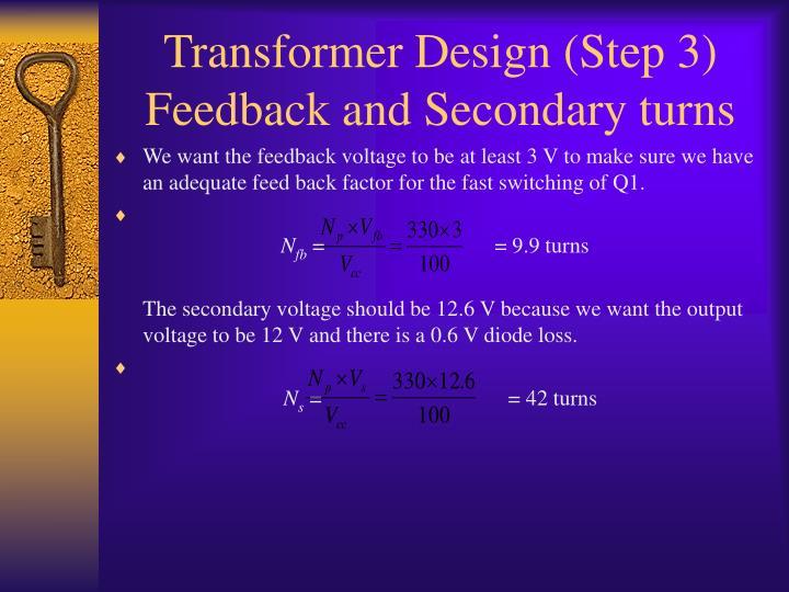 Transformer Design (Step 3)