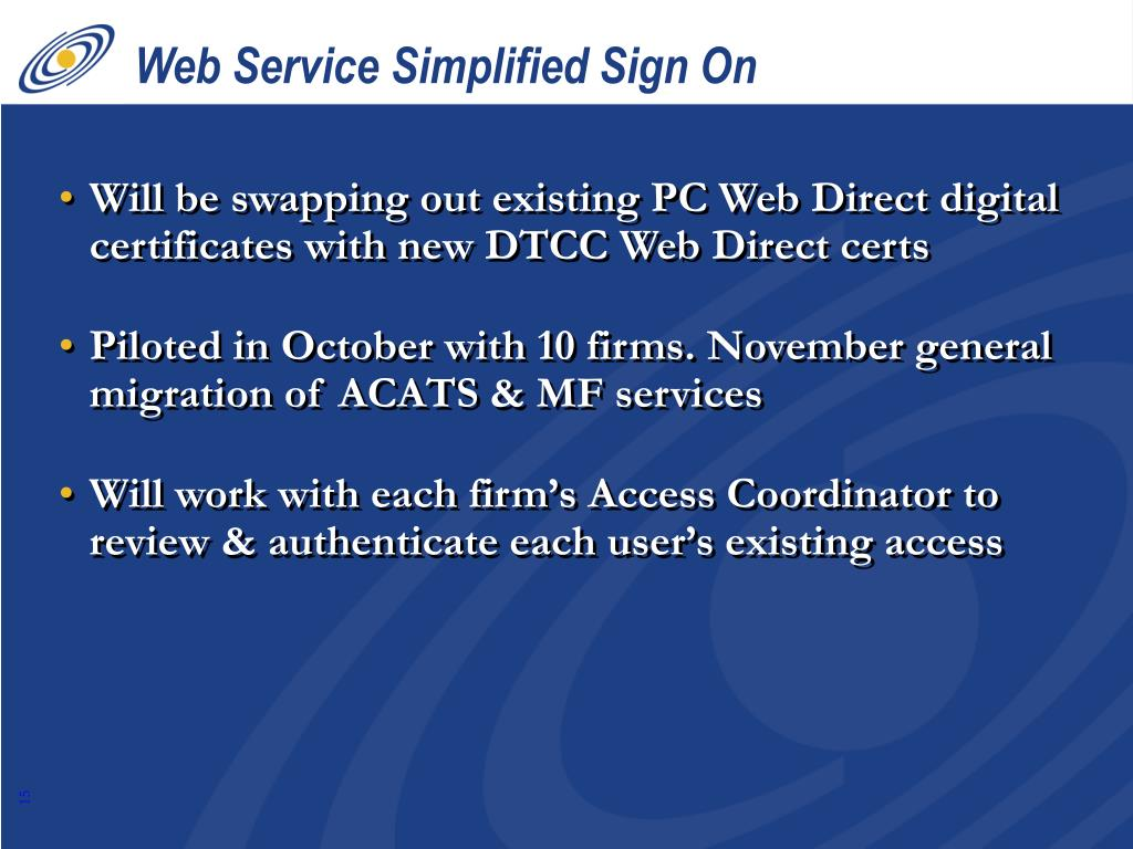 Web Service Simplified Sign On
