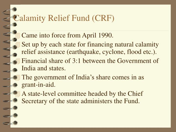 Calamity Relief Fund (CRF)