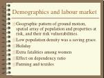 demographics and labour market
