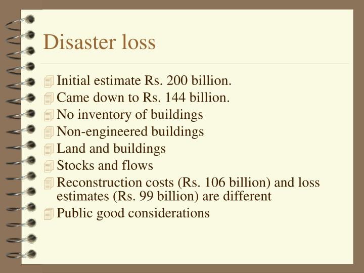 Disaster loss
