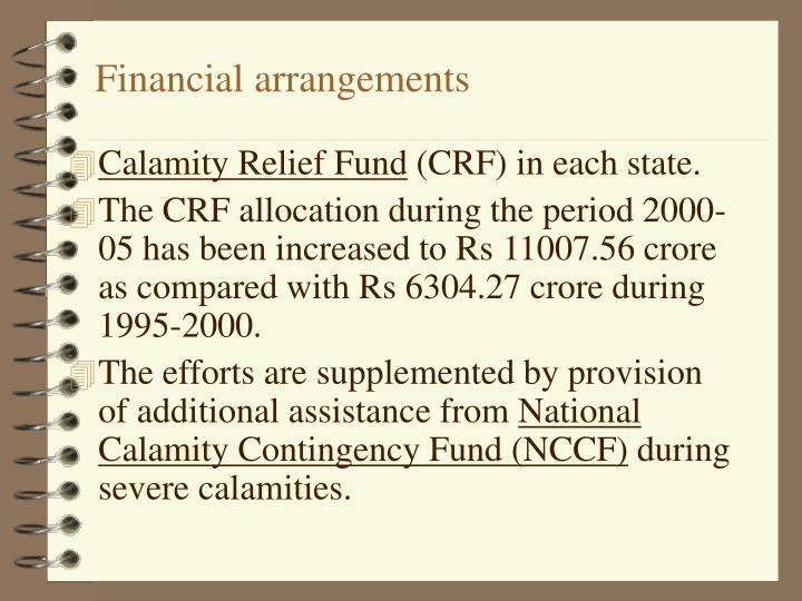 Financial arrangements