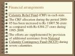 financial arrangements