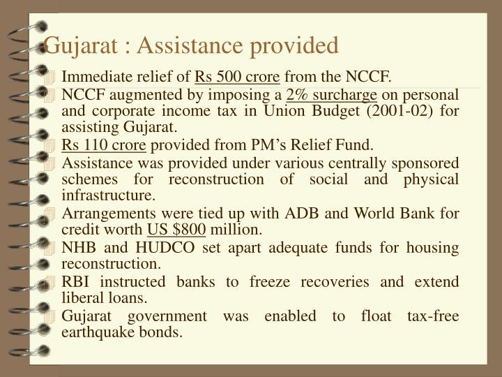 Gujarat : Assistance provided
