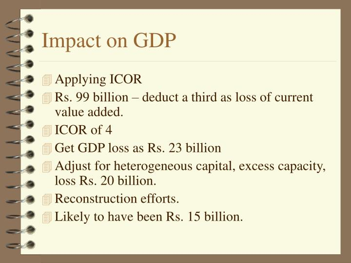 Impact on GDP