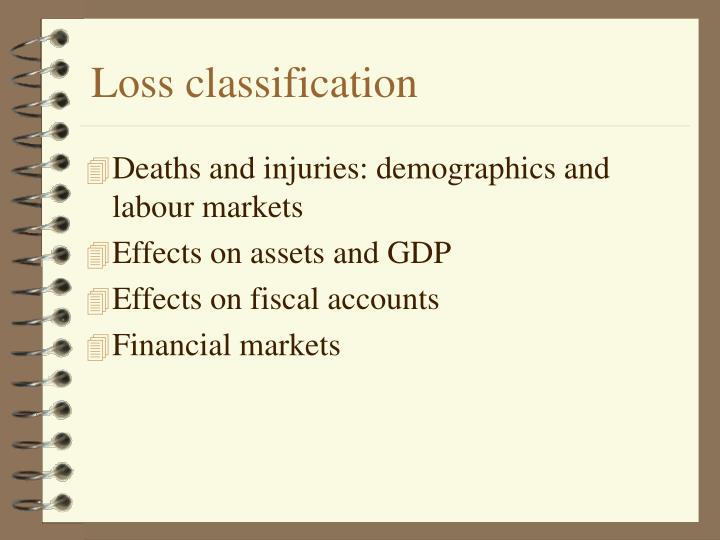 Loss classification