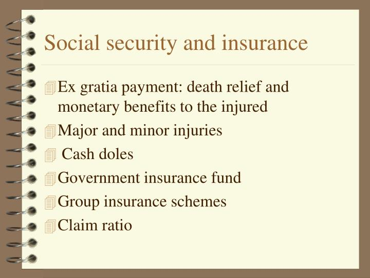 Social security and insurance