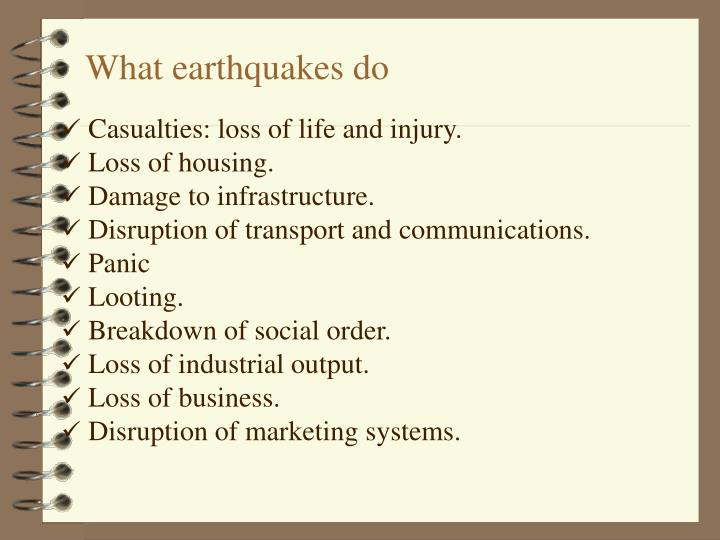 What earthquakes do