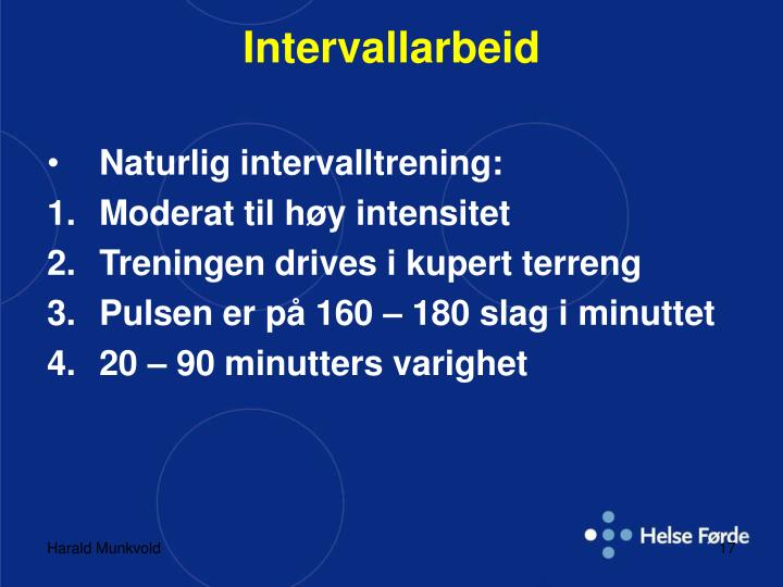 Intervallarbeid