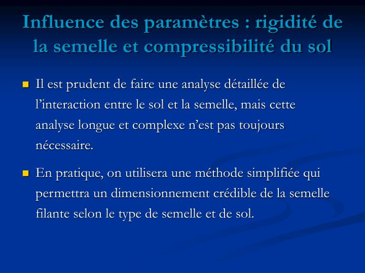 Ppt les semelles filantes powerpoint presentation id for Analyse de sol construction