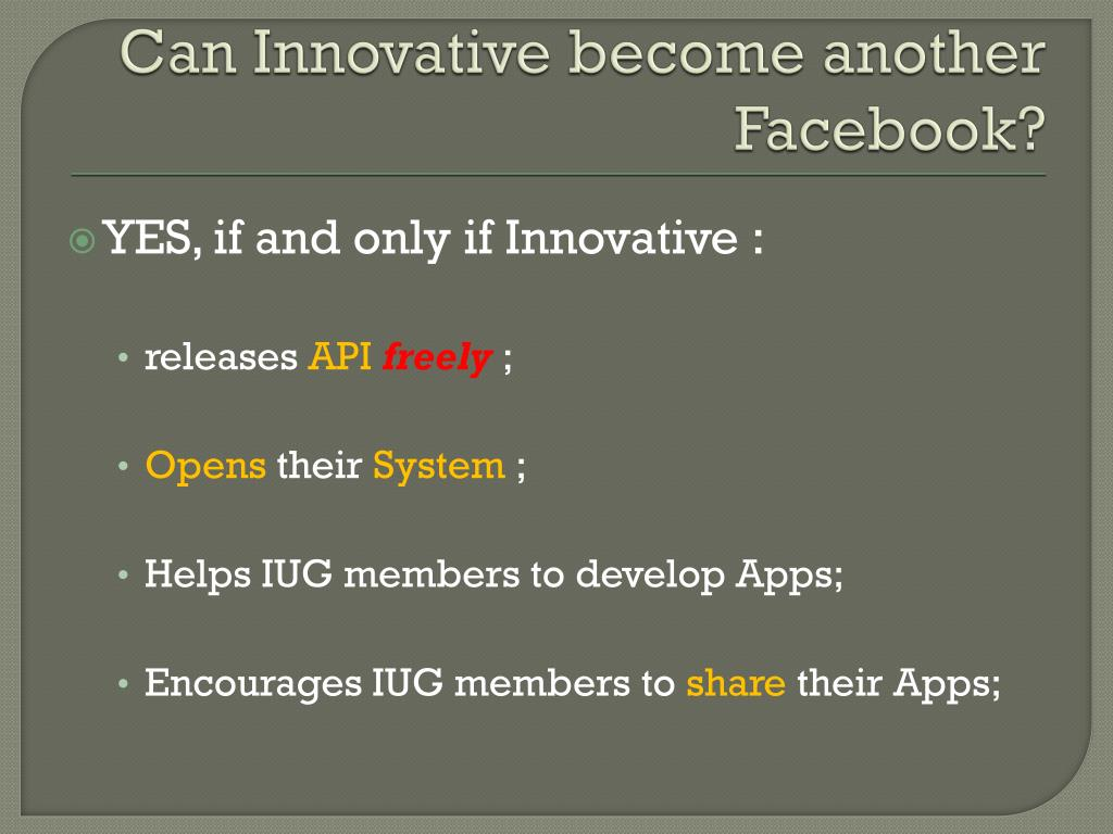 Can Innovative become another