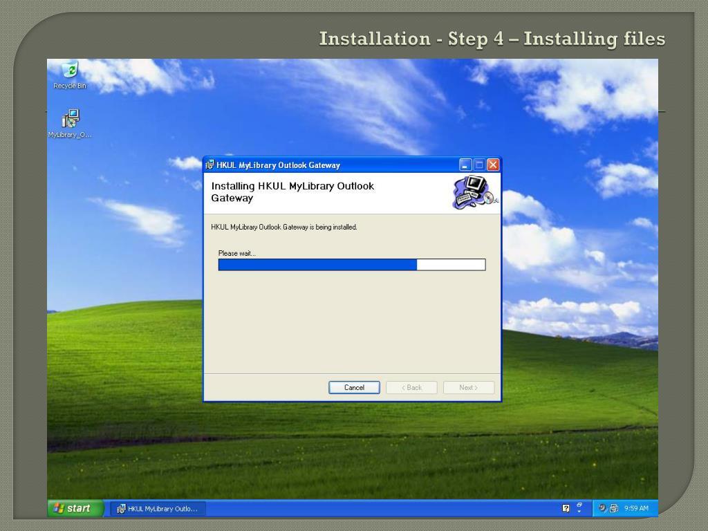 Installation - Step 4 – Installing files