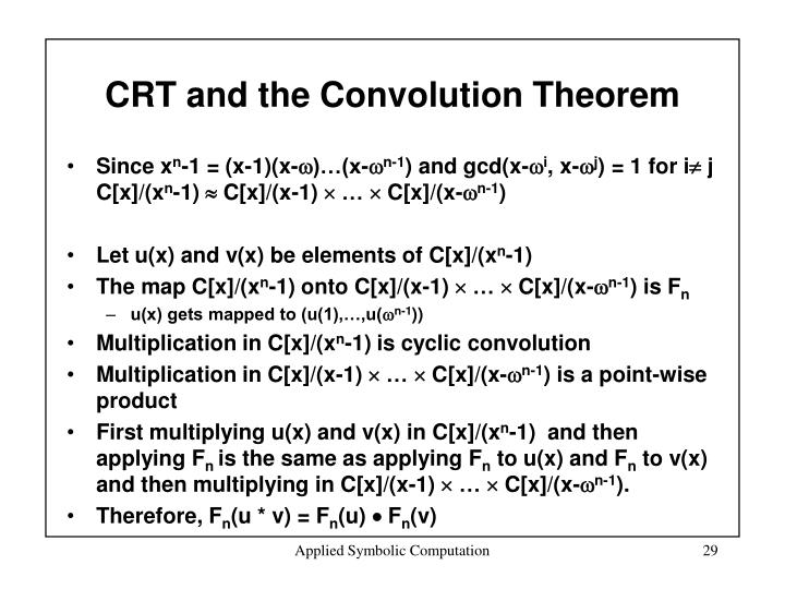 CRT and the Convolution Theorem