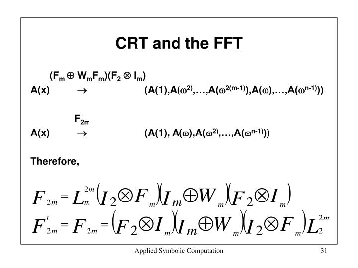 CRT and the FFT