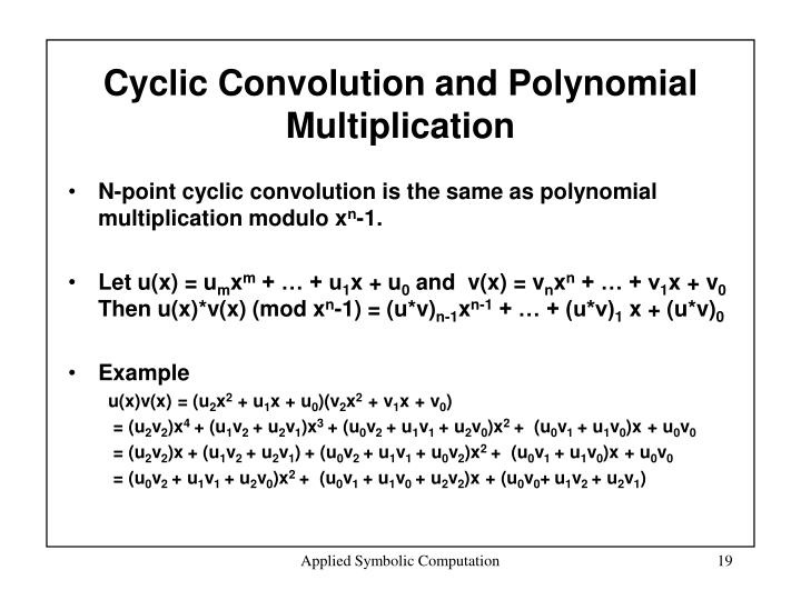 Cyclic Convolution and Polynomial Multiplication