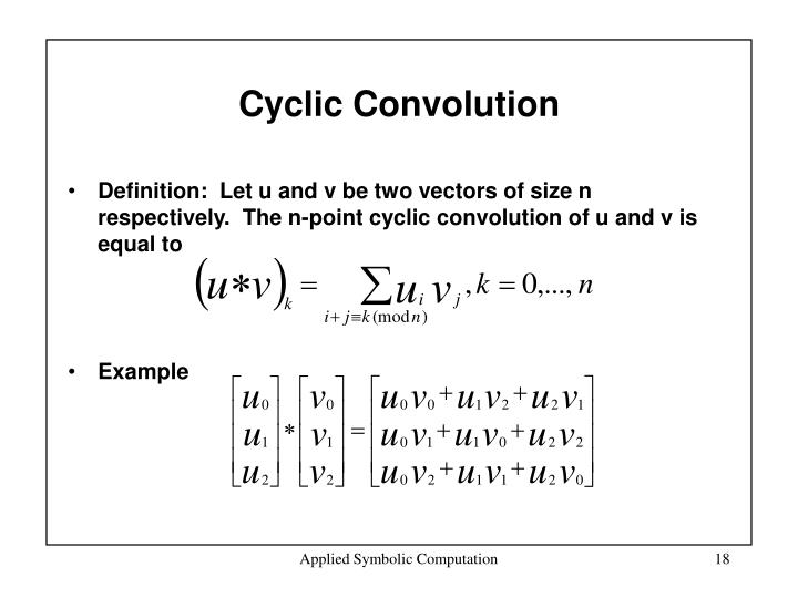 Cyclic Convolution