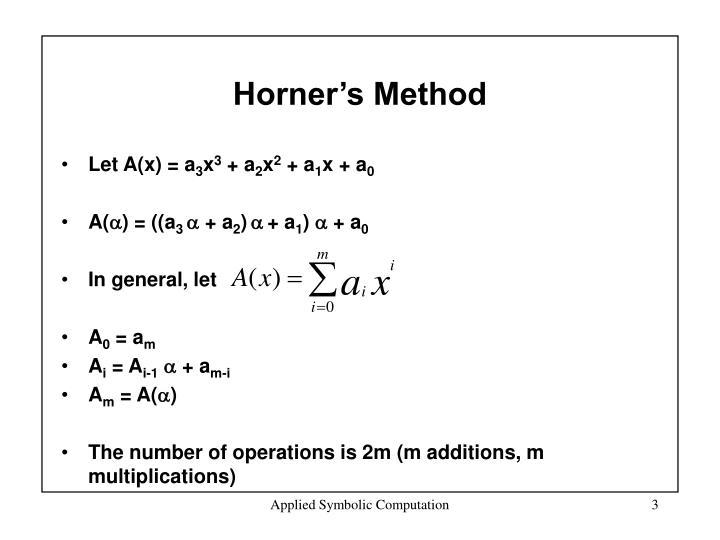 Horner's Method