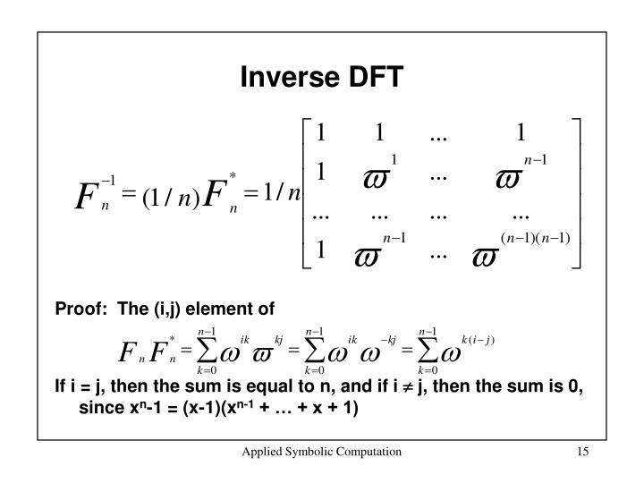 Inverse DFT