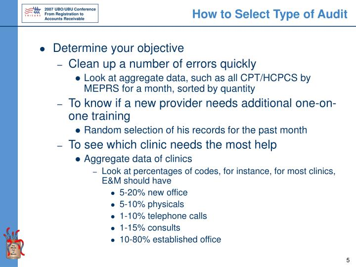 How to Select Type of Audit