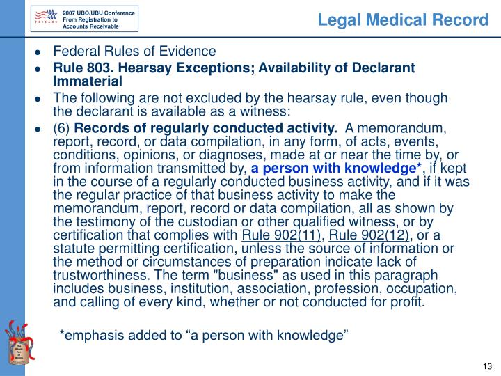 Legal Medical Record