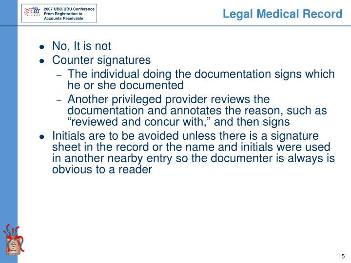 Legal Medical Record